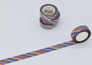 Decorative Sparkly Rainbow Washi Tape – 1.5cm x 10m