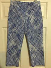 Attyre New York, Size 8, Blue/White, Pull-up Crop Pants, Good Condition!