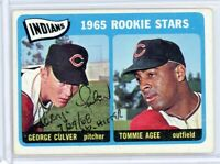GEORGE CULVER Autographed Signed Topps 1965 Rookie Stars Card #166, w/ AGEE