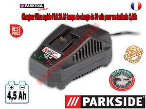 Chargeur Rapide PARKSIDE PLG 20 4,5A pour Batterie 20V 4 Ah