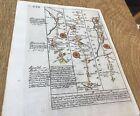 LLANDOVERY CARMARTHEN BUILTH OWEN BOWEN ROAD MAP C1720 FROM BRITANNIA DEPICTA