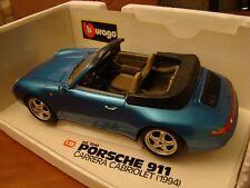 1/18 Porsche 911 Carrera Cabriolet 1994 Rare