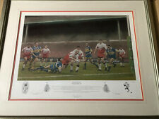"""More details for """"wembley warriors"""" silk cut challenge cup. framed picture"""