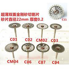 Dental Diamond Polishing Wheel Solid Saw Disc Cut Off Rotary Tool & Mandrel