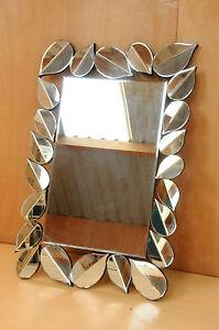 Premium Modern Mirror with striking Curved Leaves Design 1.2m x 1m