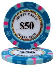 Brybelly Holdings CPMC-50-25 14 g Monte Carlo Poker Chips - Dollar 50 Roll Of 25