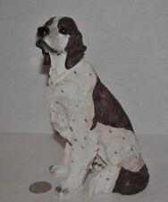 "VTG  Hunting Münsterländer Seated DOG Figurine/Sculpture 7.5""H Resin(?)"
