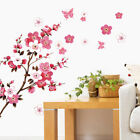 Large Cherry Blossom Flower Butterfly Tree Wall Stickers Art Decal Home Decor E