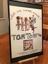"Big 11X17 Framed ""Tom Tom Club"", ""Genius Of Love"" Lp Album Cd 45 Single Promo Ad"