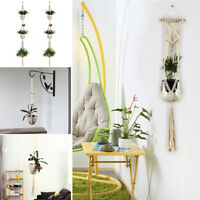 Plant Hanger Cotton 3 Tier Macrame Rope Flower Pot Hanging Planter Basket Holder