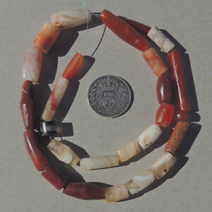 a strand of selected rare ancient small agate stone beads mali #4915