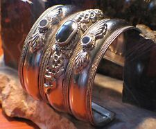 Onyx Sterling Silver Cuff Bracelet