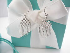 Auth Tiffany & Co 18K White Gold Fringe Earrings