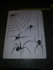 """SPIDERS + WEB AIRBRUSH PAINT STENCIL 1 LAYER 8.0""""x11.0"""""""