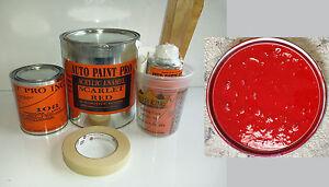 Scarlet Red acrylic enamel single stage restoration auto body shop car paint kit