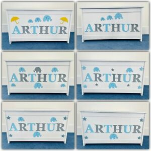 Girls/boys Wooden Personalised Children's Toy Box/Storage Box/chest Any Name