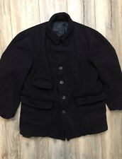 Coach Pea Coat In Navy 100% Wool Size Large