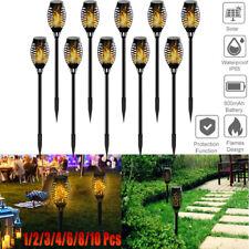 12/30 LED Solar Torch Light Flickering Dancing Flame Waterproof Landscape Lamps