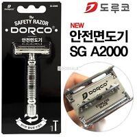 DORCO Safety Razor/Shaver SG A2000  +  10 Double edge Blades