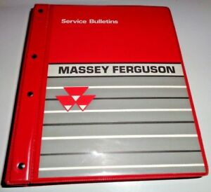 Massey Ferguson Tractor Service Bulletins & Binder  2000-03 4200 6200 8200 241&&