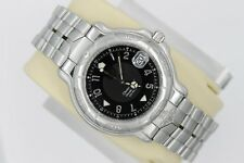 Tag Heuer 6000 Mens Automatic Chronometer Watch WH5114 $4K Black Mint Crystal