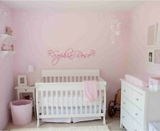 Vinyl Wall Art PERSONALIZED NAME GIRLS Hearts Decal Kids Children Nursery Room