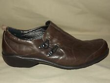 """WOMENS BRAND NEW """"ROMIKA"""" BROWN LEATHER LOAFERS EURO 41 OR 10-10 1/2"""