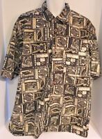 Hawaiian Aloha Shirt Woodie Wagon Mens XLT