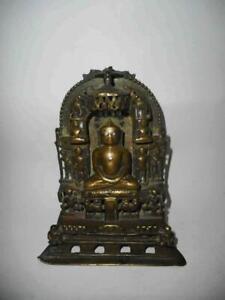 Antique India TOP QUALITY VERY EARLY BRONZE JAIN SHRINE ALTAR TIRTHANKARA FIGURE