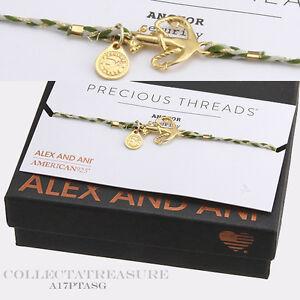 Authentic Alex and Ani Anchor Precious Threads 14kt GP Bracelet