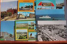 29148 7 Riesen Postkarten A5 Rostock um 1980 DDR Zeit mit Neubauten und  Zentrum