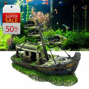 2021 Hot Aquarium Fish Tank Landscape Wreck Pirate Ship |Aquarium Accessories
