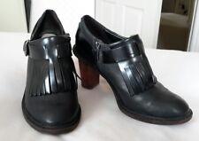 Clarks black leather work shoe size 4