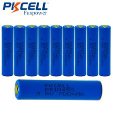 10x AAA Lithium Batteries ER10450 700mAh 3.6V 3A Li-SOCL2 Battery PKCELL CA SHIP