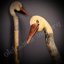 Stork Hand Carvin Canes Walking Sticks Wooden Unique Handmade Cane Vintage Gift