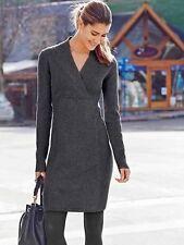 ATHLETA NWT $138 Chalet Sweater Dress~Charcoal Heather Sz XS PETITE  XS P