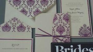 brides invitation kit 30 count by gartner studio purple and ivory