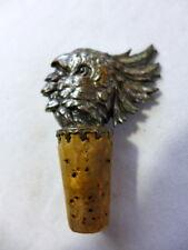 ancien bouchon bouteille en forme de Cacatoes 1900 art nouveau cuivre argenté