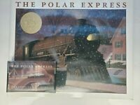 The Polar Express Gift Set Book & Cassette Tape Only in Pristine Condition