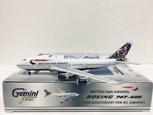 Gemini Jets 1:400 British Asia Airways BOEING 747-400 G-CIVB GJBAW021