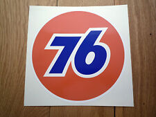 "UNION 76 Car Sticker 12"" Race Gas Petrol Pump Ford Mustang Galaxie Corvette Fuel"