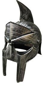 Roman Spartan Trojan Gladiator Helmet Warrior Plastic Armor Costume Accessory