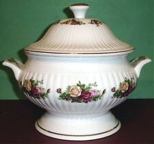 Royal Albert Old Country Roses Covered Soup Vegetable Tureen w/Side Handles New