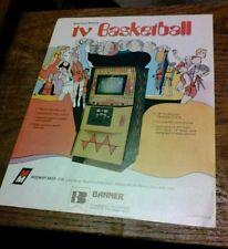 Midway TV BASKETBALL Arcade Video Game flyer- original