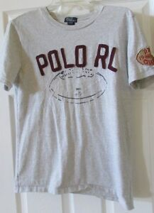 Boys 14-16 RALPH LAUREN POLO grainy gray short sleeve t shirt