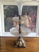 American Brilliant Cut Glass 3 Tier Centerpiece Tazza Antique Epergne 25""