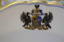 Adelsteller, Wien um 1858, UNBEKANNTES ADELSGESCHLECHT, Wappen, Goldrand, 21,5cm