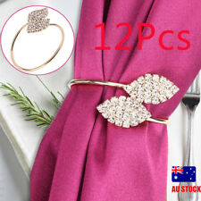 12pcs Napkin Rings Serviette Holder Dinner Wedding Towel Ring Party Table Decor