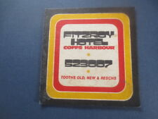 1 only TOOTH,S Brewery / Fitzroy Hotel,New South Wales BEER  COASTER