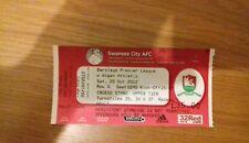 Swansea City V Wigan Athletic 20TH OTTOBRE 2012 biglietti non utilizzati Premier League
